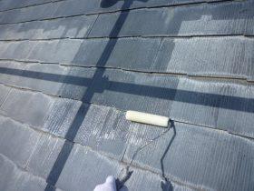 プライマー塗布(屋根)