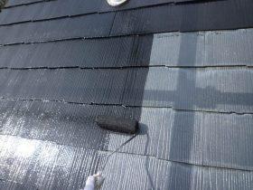 上塗り1回目(屋根)