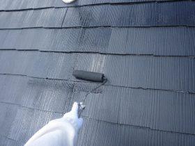 上塗り2回目(屋根)