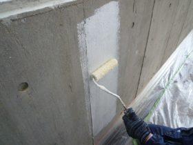 駐車場内壁下塗り